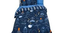 Circo® Blast Off Bedding Set - Twin thinking about adding orange to his current green and navy color scheme when we go to space
