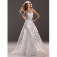 Maggie Sottero Spring 2013 - Style 3MS760DT Marianne Gown with Detachable Train - Elegant Wedding Dresses|Charming Gowns 2017|Demure Prom Dresses