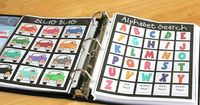 Gluesticks: Road Trip Binder for Kids. Filled with an assortment of activity for kids for those long car trips.