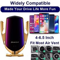 Smart Automatic Clamping Car Wireless Charger For IPhone Galaxy Xiaomi Fast Charge Air Vent Mount Car Phone Holder