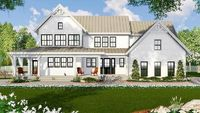 4-Bed Modern Farmhouse Plan with Loads of Porch Space - 14666RK - 01