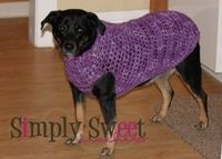 Simply Sweet: Dog Sweater (method described)