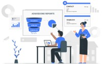 If you're looking for the best admissions management system then get your hands on the Schoolzpro admissions CRM ASAP. The Schoolzpro CRM helps you conduct all the lead management actions that you can do in a typical CRM but with advanced features a...