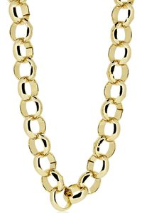 MEN'S LUXURY 14K GOLD PLATED 10MM BLING SOLID BELCHER CHAIN NECKLACE  Colour: Gold Material: Brass Technique: This product looks & feels like a real piece of gold jewellery Special Features: This product has been SPECIALLY MANUFACTURED to L...