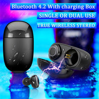 Wireless Sport Bluetooth Earbuds Headset Earphone With Charging Box For Tablet Cellphone