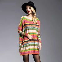 Casual Colorful Patterned Pullover Sweater $28.99