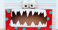 I've seen several monster tissue box crafts, but I love the idea of a Tattle Monster. Let kids share their tattles with him, instead of pestering you. Brilliant!