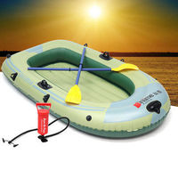 Outdoor Sports 2/3/4 Person PVC Inflatable Boat Fishing Raft Dinghy Canoe Kayak - 2