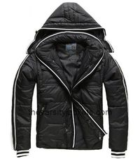 2015 New Men's Black Hooded Thick Warm Coat Jackets Shop Online