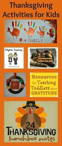 Children love the Thanksgiving holiday. Why not spark their love of learning through themed activities? Pick one of these to practice writing, reading, math and