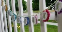 Felted Button: FREE Summer Flower Bunting Crochet Pattern. Next time you have an outdoor barbecue with friends & family, be sure you're ready with this cute Summer Flower Decor. The crochet instructions provide a photo tutorial as well as closeu...