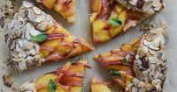 Ginger Peach Galette with Almond Crust. - How Sweet It Is