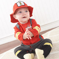 "Celebrate true heroes and heroines with one of the hottest designs in our ""Big Dreamzzz"" collection. Baby Aspen inspires those big dreams with our Baby Firefighter layette set! Sporting ""suspenders, ""boots"" and an absolutely adora..."