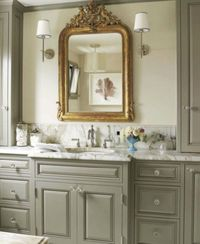 I love the color on this vanity.