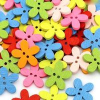 Cute Wooden Flower Shape Buttons. 15mm Diameter. Nature Theme. Ideal for Dressmakers, Upholstery, Cardmaking Scrapbooking and Embellishing £2.49
