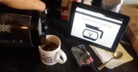 My weekend project: Coffee monitoring web app