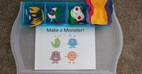 Make a monster tot school tray