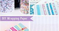DIY wrappingpaper