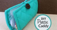 Make a functional purse caddy from a pot holder, for only one dollar! It's quick, easy, and will keep your purse organized and clean.