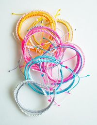 Molly's Sketchbook: Breezy FriendshipBracelets - The Purl Bee - Knitting Crochet Sewing Embroidery Crafts Patterns and Ideas!