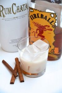 The Rumball is equal parts Fireball and RumChata. Oh, yeah.