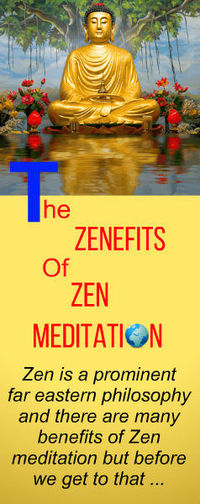 BENEFITS & ZENEFITS OF ZEN MEDITATION ~ Find out exactly how a little dedication to Zazan Zen meditation can improve your emotional wellbeing