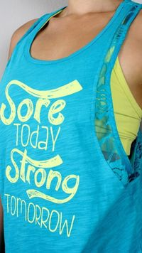 oGorgeous Sore Today Lacey Muscle Tank | Jade/Yellow