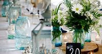 pottery barn burlap and lanterns table setting | LOVED the table decor! Burlap runners with tree trunk slice bases with ...