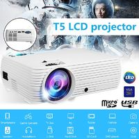X5 LCD Projector 7000 Lumens 1080P 160 inches White Standard with Android 6.0 System Wifi bluetooth Projector
