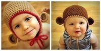 crochet monkey hat, crochet monkey and hat patterns.