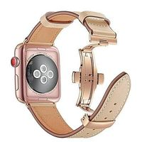44mm 40mm 42mm 38mm Genuine Leather For Apple iWatch Strap $67.99
