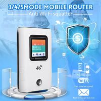 4G Wireless Mobile Router Portable Wifi Repeater Modem LCD Display 150Mbps SMS Notification 5200mAh Power Bank Charging Electronic Device Support 10 Devices