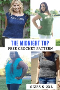 MIDNIGHT TOP FREE CROCHET ALONG PART 1
