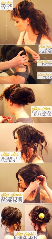 Messy updo tutorial