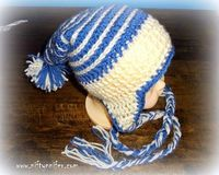 Baby Ice Spiral Hat ~ FREE crochet pattern by Jennifer Gregory from Niftynnifer's Crochet & Crafts.