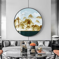 Framed wall art Mountains art Gold art Abstract Paintings on canvas landscape wall pictures textured painting cuadros abstractos $609.00