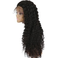 Lace Front Human Hair Wigs for Women 150% Density Remy Peruvian Deep Curly Lace Wigs $77.99