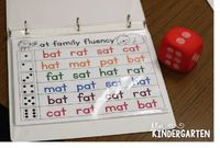 Working on Our Reading Fluency! Roll the die and read the row! Perfect for working on word family words.