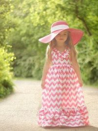 STILL TIME TO GET YOUR PRINCESSES EASTER DRESS Girls Long Dresses Chevron Print Guaranteed by AdalynsBoutique, $32.99