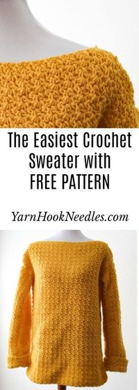 The Easiest Pullover Crochet Sweater You'll Ever Make!