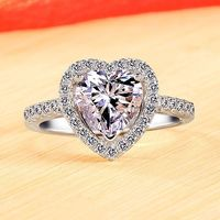 0.6ct Heart Diamond Womens Promise Ring with Name by Gullei.com