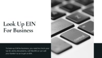 An EIN Number is issued to a business entity in the United States. In case you want to look up for EIN Number of your business, there are multiple methods. The easiest one is to look for emails, messages etc. If you opened a bank account with EIN Number,...