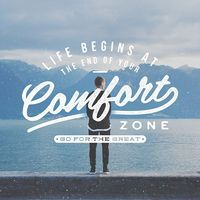 Life begins at the end of your comfort zone #typography #type #lettering