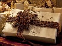The holiday experts at HGTV.com share 50 creative handmade holiday gift wrap and tag ideas for Christmas.