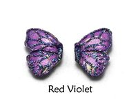 Hypoallergenic Handmade Blue, Purple, or Violet Magnetic or Pierced Fabric Butterfly Earring $30.00 Designed by LauraWilson.com