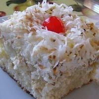 Coconut Poke Cake Allrecipes.com I've lost track of how many times we've made this. It's a HIT every.single.time!!!