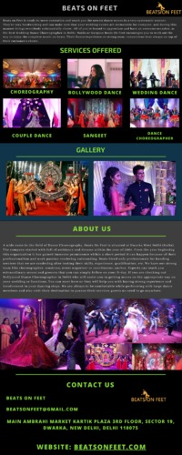 Call Beats On Feet today to hire the most splendidly fantastic bollywood dance choreographers in Delhi if you have a wedding to attend in Delhi.  https://beatsonfeet.com/