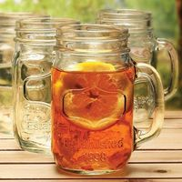 I love drinking out of mason jars! Kearney Mason Jar Drinking Glass (Set of 4)
