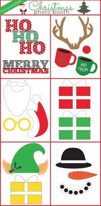 Christmas Photo Booth Props - These free printable Christmas Photo Props add a ton of fun to any festive Christmas gathering.