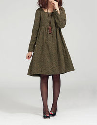 Lovely doll long sleeved tunic dress gown/ yellow
